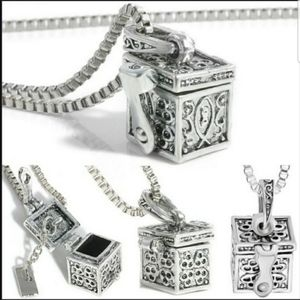Jewelry - NWT Retro Cremation Pendant Love box Necklace